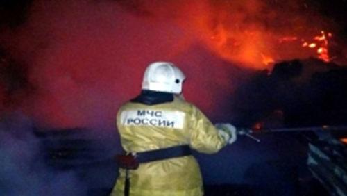 В деревне Молоково сгорела баня