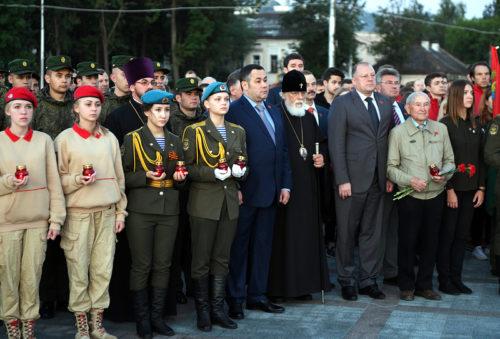 Губернатор Игорь Руденя в День памяти и скорби принял участие в акции «Свеча памяти»