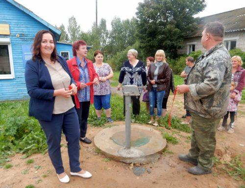В Красном открыли участок отремонтированного водопровода