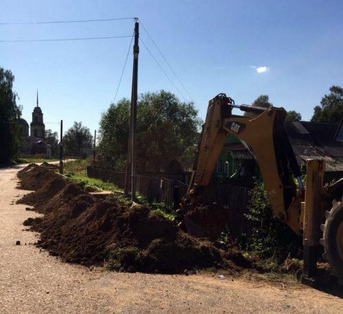 В деревне Юрьевское по двум улицам проложили новые водопроводные сети