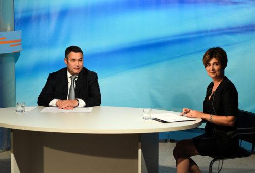 Игорь Руденя ответил на вопросы жителей Тверской области в прямом эфире телеканала Россия-24