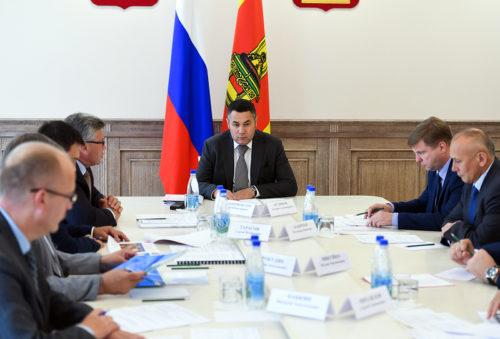 Игорь Руденя провёл совещание о строительстве учреждений образования в Тверской области